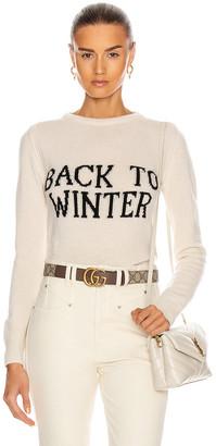 Alberta Ferretti Back To Winter Sweater in White | FWRD