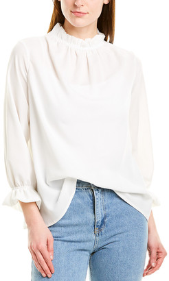 Harper Rose Woven Mock Neck Top