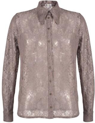 Muza Slim Fit Floral Lace Shirt