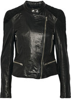 Muu Baa Muubaa Yarra Nubuck-Trimmed Leather Biker Jacket