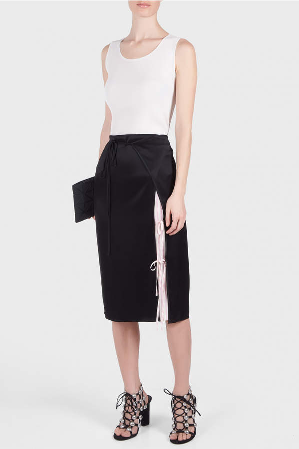 Alexander Wang Drape Satin Skirt