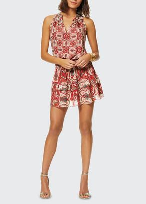 Ramy Brook Brady Geometric-Print Dress