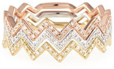 Ef Collection Zigzag Diamond Stackable Ring
