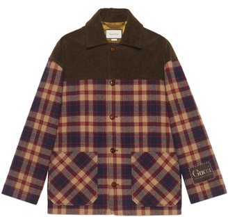 Gucci Check wool and corduroy jacket