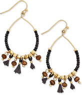 INC International Concepts Gold-Tone Beaded Hoop Earrings, Only at Macy's