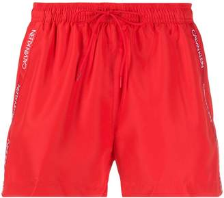 Calvin Klein Logo Stripe Swim Shorts