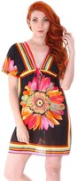 Simplicity Women Paisley Print V-Neck Sun Dress Swimsuit Cover up, Black