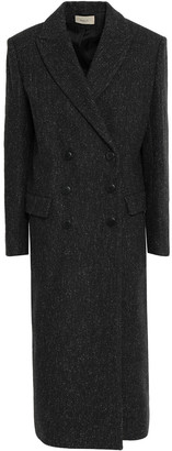 BA&SH Double-breasted Wool-blend Felt Coat