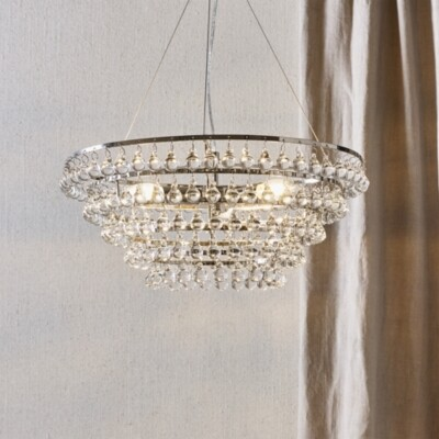 The White Company Glass Orb Chandelier Ceiling Light, Clear, One Size