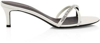 Giuseppe Zanotti Miria Swarovski Crystal Leather Sandals