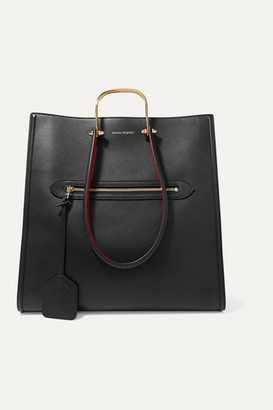 Alexander McQueen The Story Two-tone Leather Tote - Black