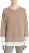 Brochu Walker Women's 'Looker' Layered Crewneck Sweater
