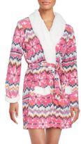 Kensie Patterned Microfleece Robe