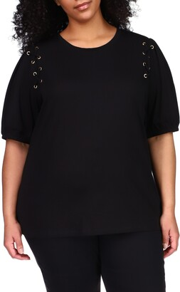MICHAEL Michael Kors Lace-Up T-Shirt