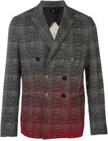 Christian Pellizzari plaid dégradé double-breasted blazer