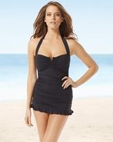 Soma Intimates Shirred Halter One Piece Swimsuit