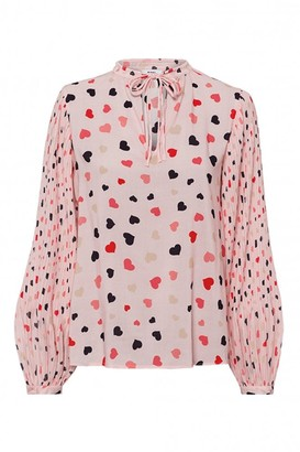 Riani Printed Blouse With Pleated Sleeves - 8