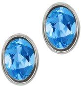 Gem Stone King 1.60 Ct Oval Shape Topaz Sterling Silver Stud Earrings