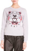 Kenzo Light Brushed Cotton Tiger Sweatshirt, Light Gray