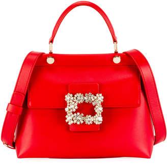 Roger Vivier Viv' Flower Strass B Cabas Mini Bag