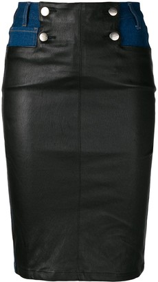 Each X Other Leather Panelled Skirt