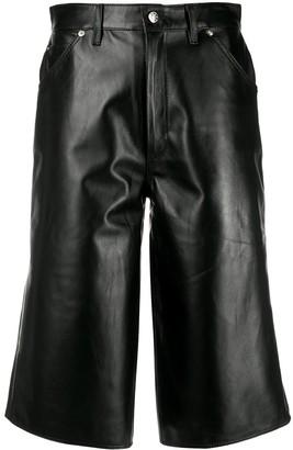 Manokhi High-Rise Wide-Leg Bermuda Shorts