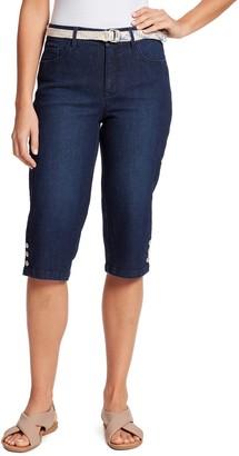Gloria Vanderbilt Petite Mila Button-Hem Skimmer Jeans