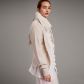 Burberry Shearling Collar Knitted Wool Cashmere Jacket