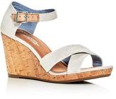 Toms Women's Sienna Ankle Strap Wedge Sandals