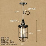 YYHAOGE Chandeliers/Ceiling Lamps Retro Iron Single Head Adjustable Chandelier Restaurant Lounge Room With Chandeliers, H) Switch - With The Original Bulb