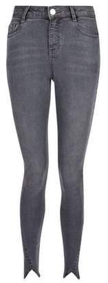Dorothy Perkins Womens Charcoal Petal Hem 'Shape And Lift' Skinny Jeans