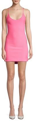 Victor Glemaud Strappy Mini Slip Knit Dress