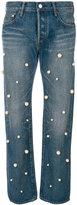 Tu Es Mon Tresor pearl embellished jeans