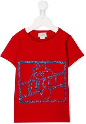 Gucci Kids glitter logo T-shirt