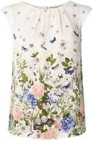 **Billie & Blossom Floral Border Shell Top