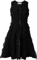 DSQUARED2 fit and flare textured dress