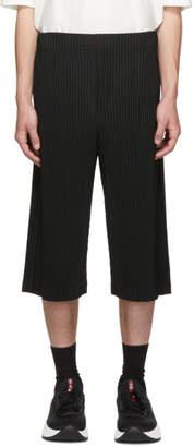 Issey Miyake Homme Plisse Black Long Pleat Shorts