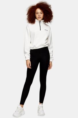 Topshop Womens Black High Waisted Ankle Leggings - Black