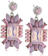 sweet deluxe 3087 Women's Earrings Metal with 40 Glass Crystals 30 mm Pink