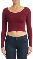 Design Lab Lord & Taylor Long Sleeved Crop Top