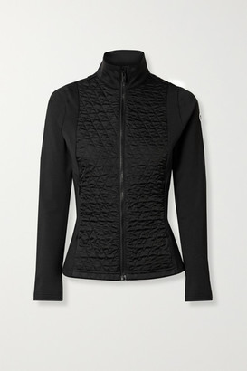 Fusalp Hermine Quilted Paneled Stretch-jersey Ski Jacket - Black