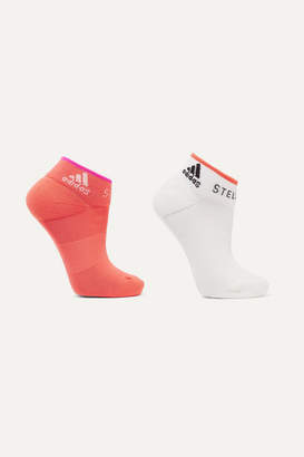 adidas by Stella McCartney + Parley For The Oceans Set Of Two Stretch-knit Socks - Orange