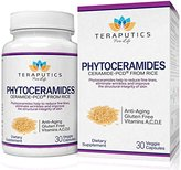 Fine Lines Teraputics Phytoceramides Ceramide-PCD ® Made From Rice - 100% Gluten Free All Natural Plant Derived Vitamin Extract, Skin Restoring Skincare Oral Supplement, Eliminates Wrinkles, Reduces Fine Lines, Strengthens Hair Skin Nails, 30 Veggie Caps, 40mg + Getting Started Guide
