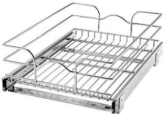 Rev-A-Shelf 15 Inch Wide 20 Inch Deep Base Kitchen Cabinet Pull Out Wire Basket