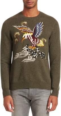 Ralph Lauren Embroidered Cashmere & Silk Sweater