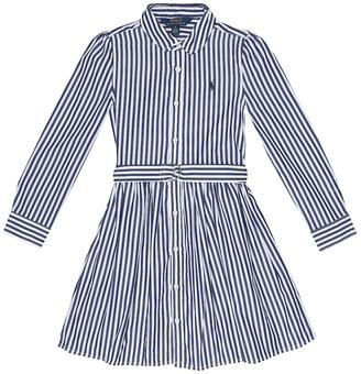 Polo Ralph Lauren Kids Striped cotton-poplin shirt dress