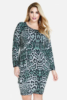 Fashion to Figure Deandrea Animal Print Sweater Dress