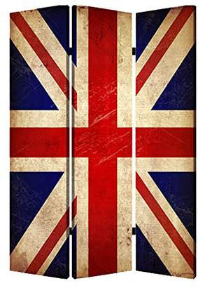 Screen Gems Union Jack 3-panel Room Divider 6 ft. Tall