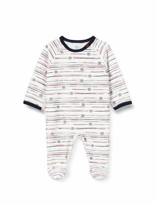 Sanetta Baby_Boy's Overall Broken White Toddler Sleepers