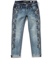 Miss Me Girls Big Girls 7-16 Embroidered Hem Ankle Jeans